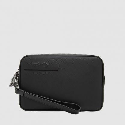 BLACK MEDIUM CLUTCH BAG