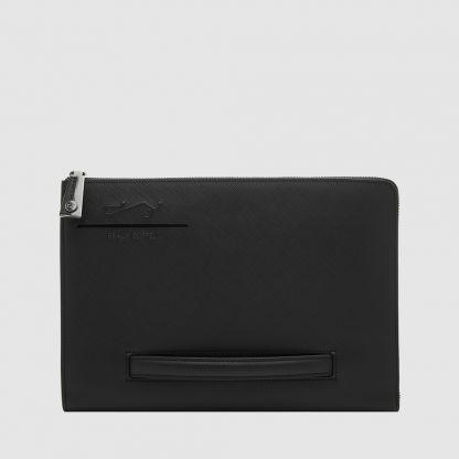 BLACK LARGE CLUTCH BAG