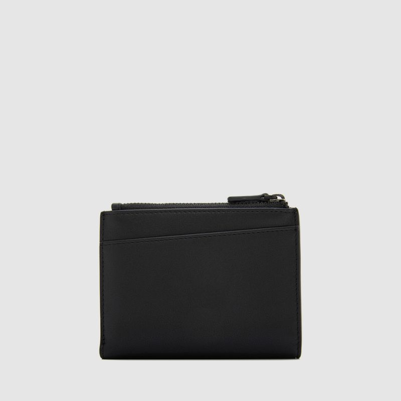 VISION VERTICAL WALLET WITH DOUBLE ZIP